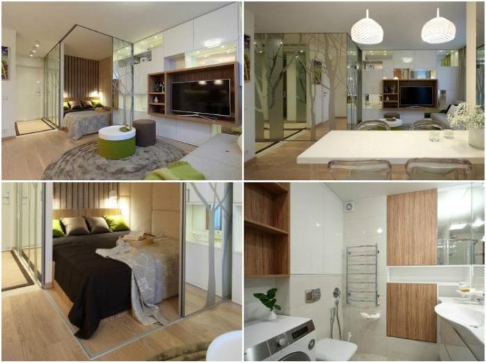 Наглядный пример преобразования 34 кв. м. старья в стильную двухкомнатную квартиру. | Фото: interiorsmall.ru.