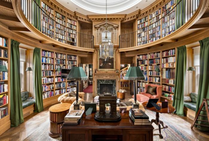 Библиотека – одно из любимых мест миллиардера (Xanadu 2.0). | Фото: zen.yandex.ru.