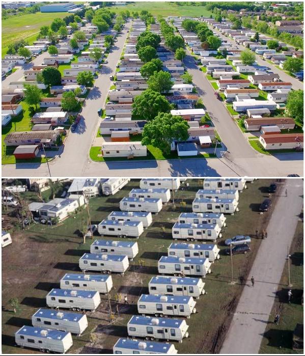 В США созданы трейлер-парки, в которых есть электро- и водоснабжение, а также подведены канализационные системы. | Фото: ru.depositphotos.com/ registeryourmobilehomeca.org.