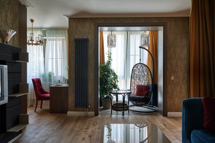 В квартире-студии никаких перегородок делать не стали. | Фото: affresco.ru.