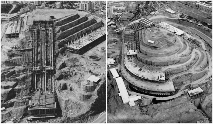 Главные строительные работы велись в период 1953-1961 гг. («El Helicoide», Каракас). | Фото: hiddenarchitecture.net.
