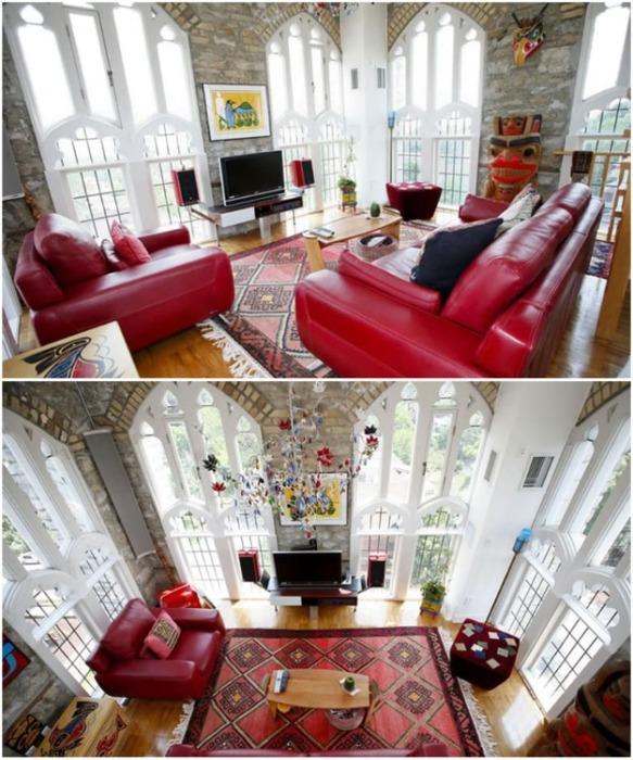 Огромные окна действительно впечатляют (аббатство Лофтс, Канада). | Фото: homedit.com.