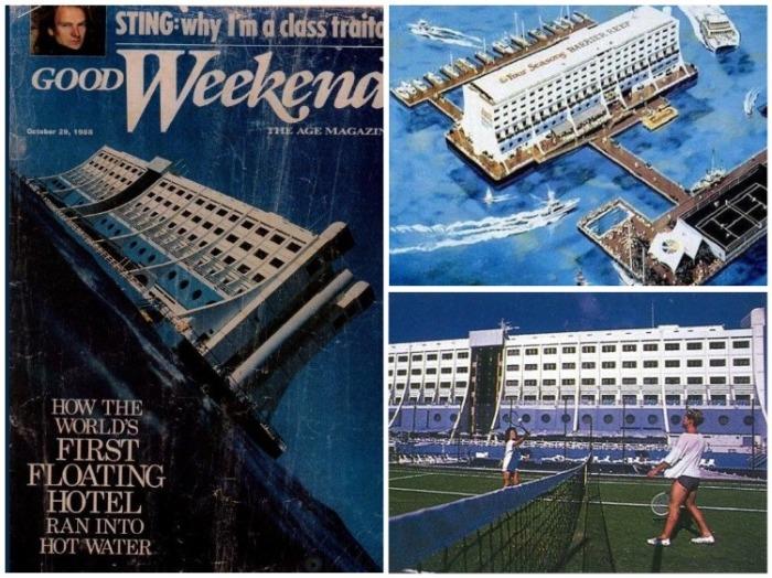 Строительство плавучего отеля стало грандиозным событием, которое освещалось во всех СМИ. | Фото: disgustingmen.com.
