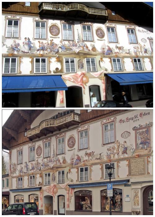 Дом, в котором жил известный писатель Людвиг Тома, расписывал еще сам Франц Сераф Цвинк (деревня Обераммергау, Германия).