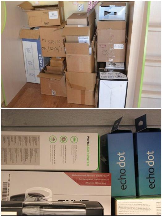 Коробки от бытовой техники продавцы рекомендуют хранить в течение гарантийного времени, но это совсем не обязательно. | Фото: madspark.ru/ pinterest.com.