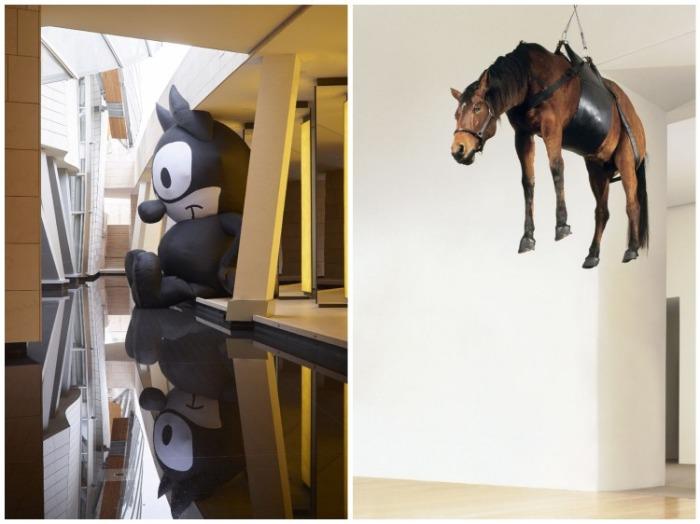Неожиданные инсталляции в рамках выставки «В гармонии с миром». | Фото: inexhibit.com.