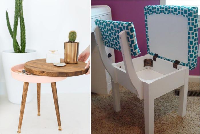 Даже самые неожиданные предметы мебели помогут спрятать кучу вещей. | Фото: cpykami.ru.