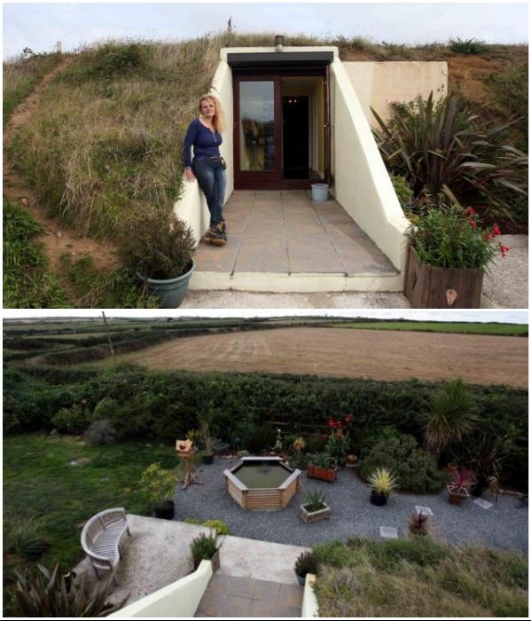 Элизабет оформила прекрасный дворик, где приятно отдыхать на свежем воздухе. | Фото: dailymail.co.uk/ lavozdelmuro.net.
