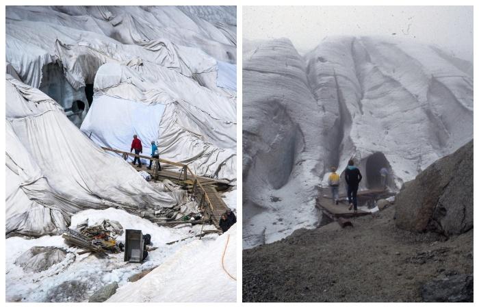 Вход в ледяной грот. На сегодняшний день его глубина достигает всего лишь 60 метров (Альпы, Швейцария).