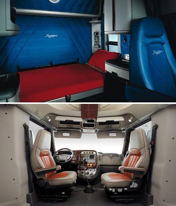 Кабина современного американского седельного тягача может быть комфортной.   Фото: mechanismone.livejournal.com.