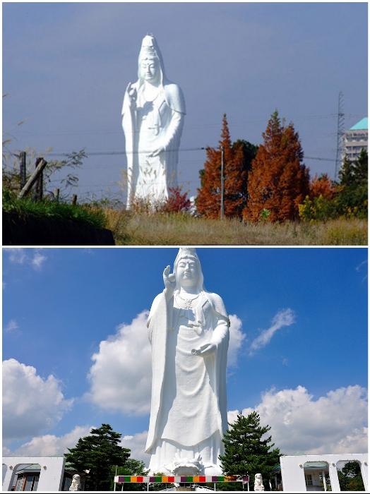 Сэндайская статуя признана самой высокой статуей богини Каннон мира (Япония). | Фото: tohokuandtokyo.org/ secrets-world.com.
