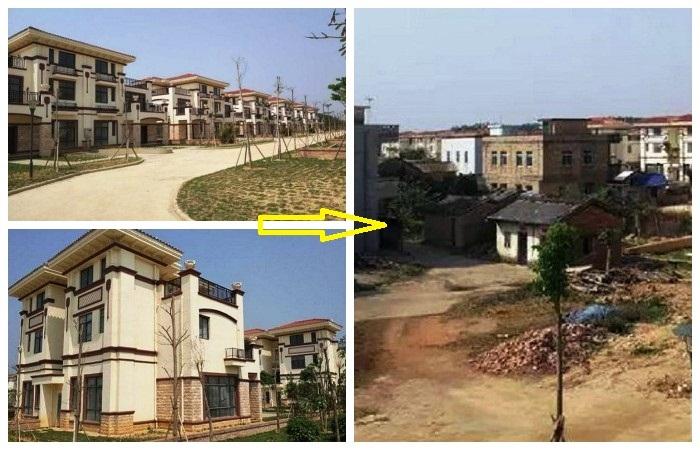 Если жадные жители деревни не договорятся, то останутся жить в своих старых домах.