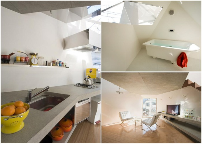 Yasuhiro Yamashita удалось создать максимально открытое и светлое пространство на 45 кв. метрах («Отражение кристалла», Токио).