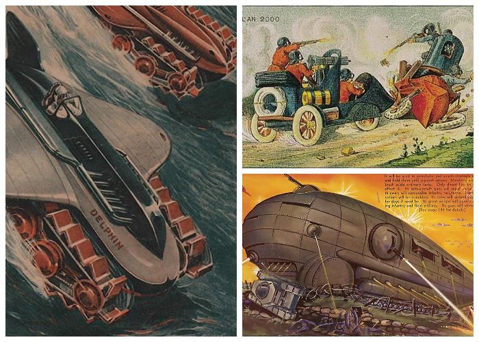 Военная техника в мечтах людей, живших 100 лет назад.