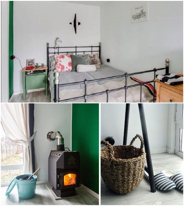 Спальная комната креативных супругов («Небанальный дачный домик», Истра). © Xenia Naletova.