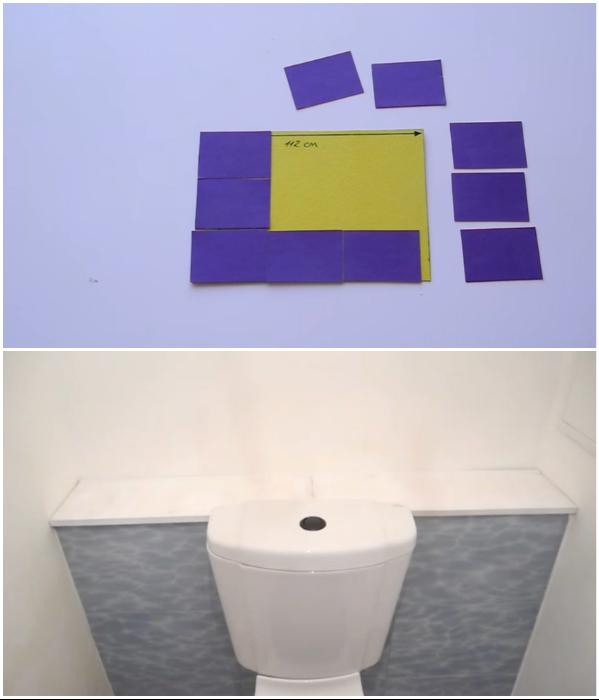Правильное распределение плитки позволило завуалировать добавленный ряд шириной 4 см. | Фото:  youtube.com/ © Екатерина Басми.