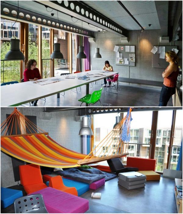 В каждом блоке есть общие комнаты, где можно обсудить интересующую тему или просто расслабиться (Tietgenkollegiet, Копенгаген). | Фото: travel.tochka.net.