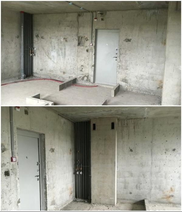 Квартира была приобретена в черновой отделке. | Фото: onashem.mediasole.ru.