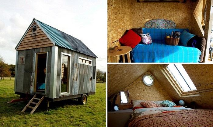 Британские молодожены создали собственный дом из строительных отходов и вторсырья.