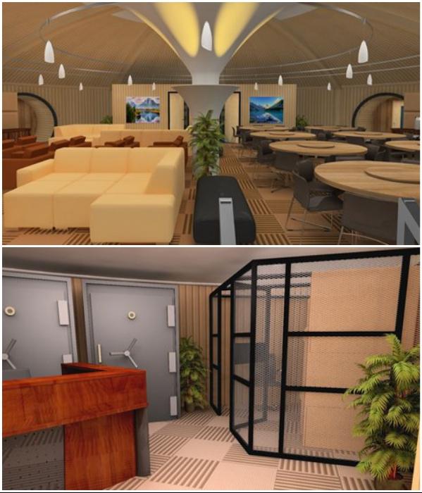 Компания Vivos создает целые подземные комплексы для проживания 172 - 200 человек в полной безопасности в течение одного года. | Фото: a-s-p.org.