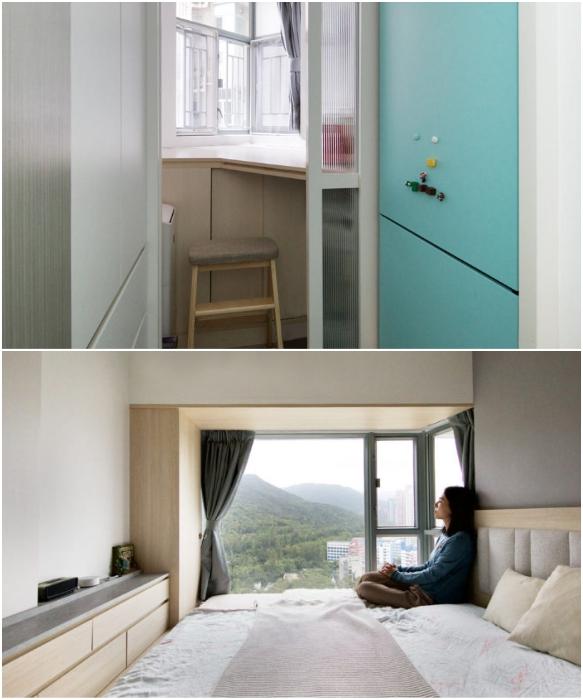 Спальня для бабушки оказалась совсем крошечной (Smart Zendo). | Фото: design-milk.com/ © Sim-Plex.