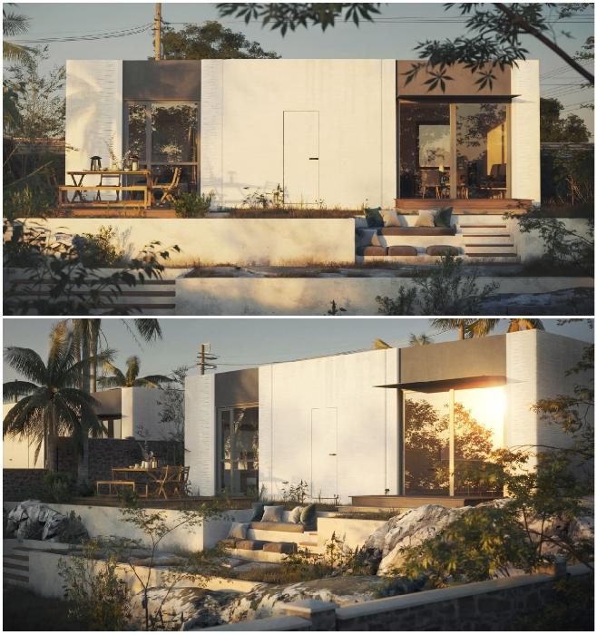 Так выглядит модель Mighty Duo B, площадь которой составляет 65 кв. м (San Ramon, Калифорния). | Фото: blog.mightybuildings.com/ © Mighty Building.