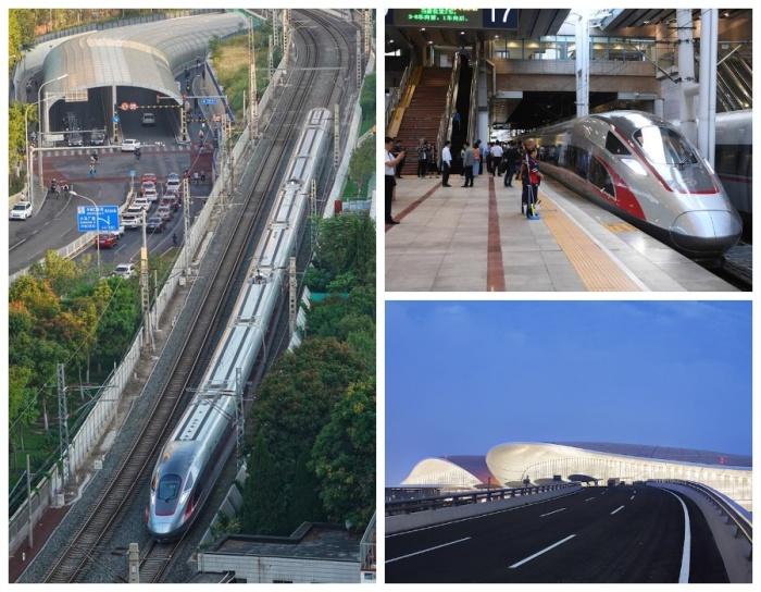 Уже курсируют высокоскоростные поезда, которые за 20 минут доставят пассажиров в новый международный аэропорт Дасин (Пекин, Китай). | Фото: China.org.cn.