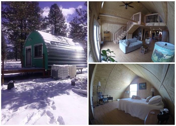 Один из вариантов арочного домика созданного компанией Arched Cabin.