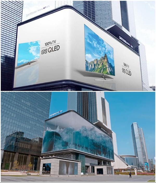 Надоедливая реклама очень быстро сменяется на шторм в океане («WAVE», Сеул).   Фото: news.myseldon.com/ boredpanda.com.