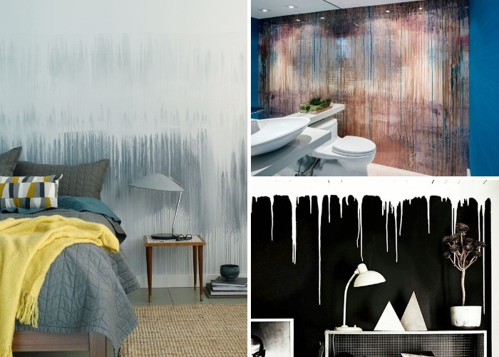 Для создания акцентной стены можно выбирать любые контрастные тона.   Фото: pinterest.ca.