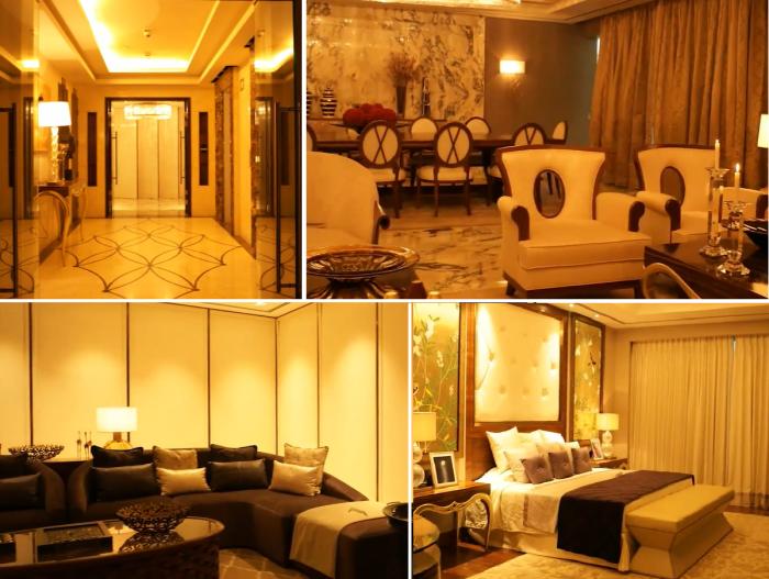 На каждом этаже создано по 2 резиденции, которые смогли приобрести только самые богатые жители Индии (Kingfisher Tower-Residences, Бангалор). Фото: youtube.com/ © Balaji Badrinath.
