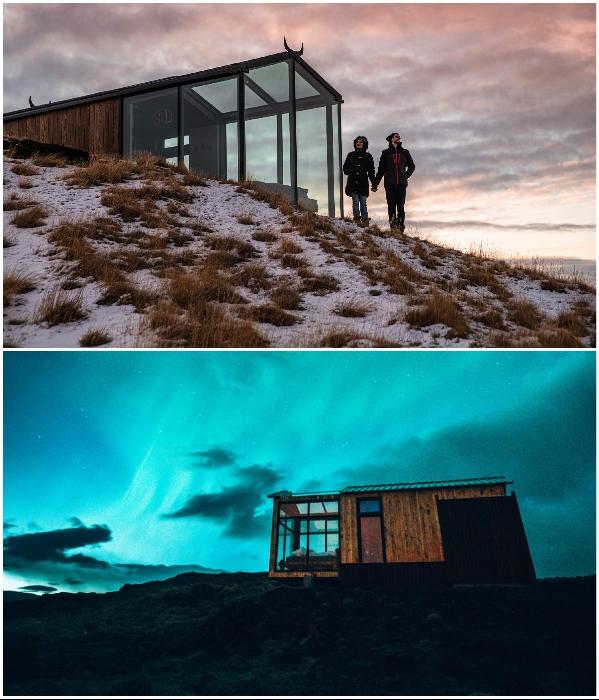 Подобные места идеально подходят для медового месяца и уединенного отдыха. | Фото: panoramaglasslodge.com.