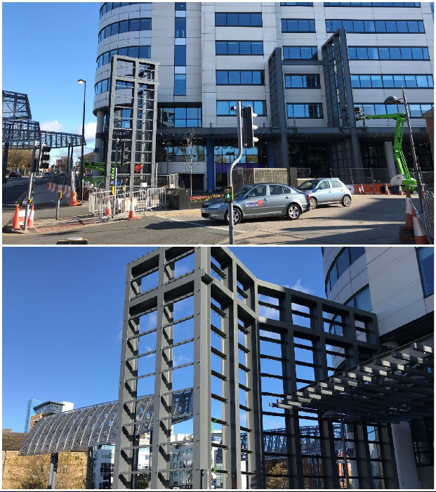 Фасад небоскреба тоже претерпел конструктивные изменения (Bridgewater Place, Лидс).