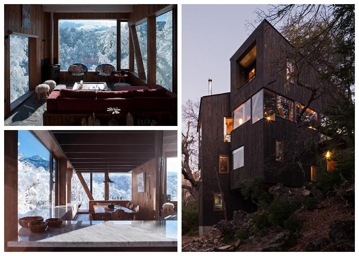 Даже высоко в горах дом может быть как экологичным, так и комфортным (проект DRAA, La Dacha).
