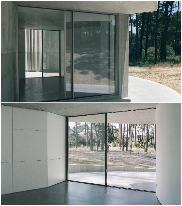 Португальцы построили дом для интровертов: у него нет наружных окон, зато есть бассейн на крыше