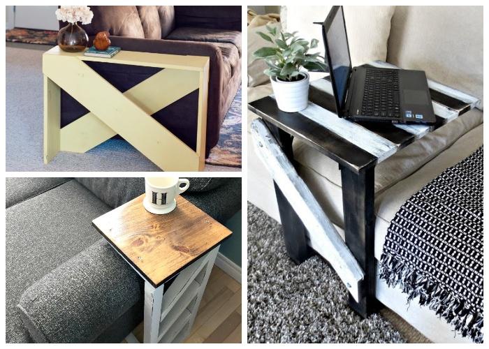 Приставные столы в деревенском стиле или лофт, можно сделать своими руками.