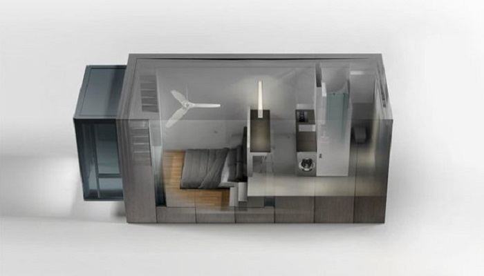 Несмотря на крошечные размеры, «умный» дом благоустроен.   Фото: blog.archiball.ru.