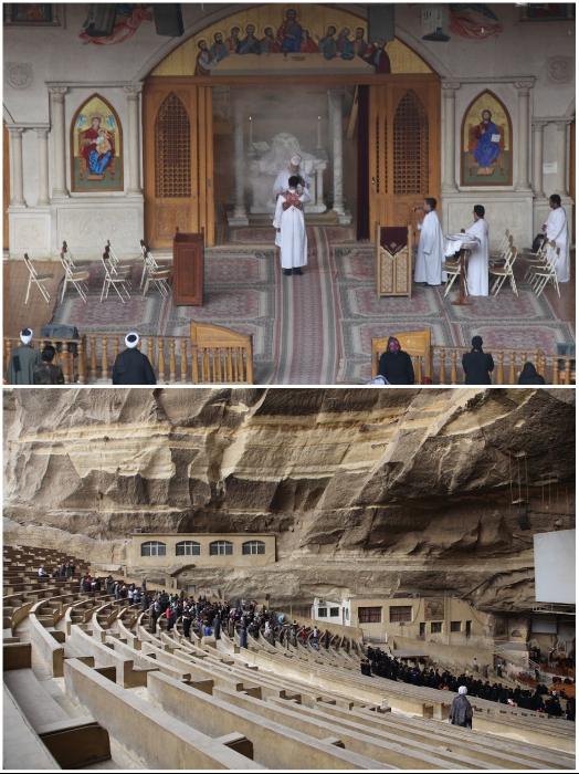 В основной церкви на богослужении одновременно может поместиться 20 тыс. человек (храм Св. Симеона, Египет). | Фото: hram-sokol.livejournal.com.