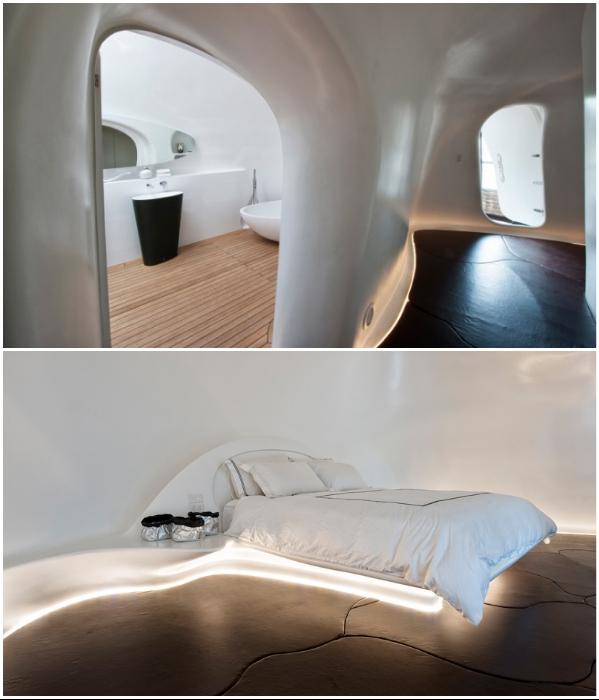 Оригинальный дизайн спальни и ванной комнаты в бывшем промышленном складе (Сидней, Австралия). | Фото: happymodern.ru.