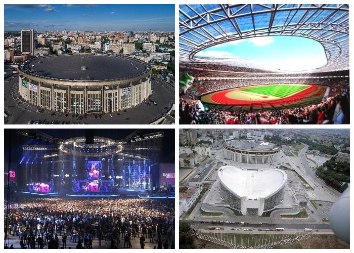 Спортивный комплекс «Олимпийский» – главная арена страны (Москва, Россия).