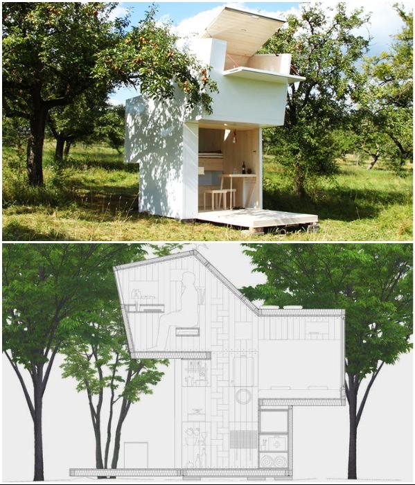 Миниатюрный сборной домик «Soul Box» можно в считанные часы установить в любом месте. | Фото: inhabitat.com/ treehugger.com.