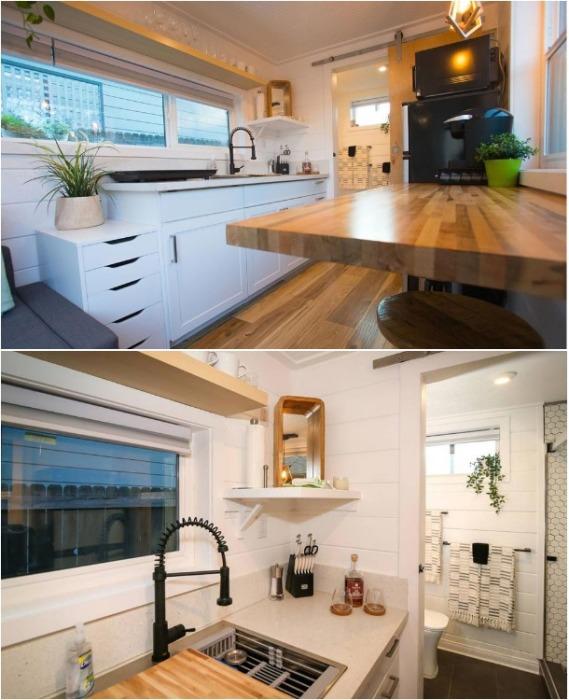 Кухня полностью оборудована всем необходимым. | Фото: pinterest.com.