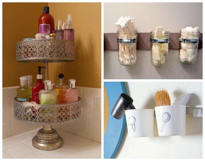 В качестве органайзеров для хранения мелких предметов можно использовать столовые приборы и разнообразные емкости.