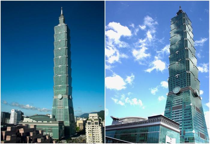 Тайбэй 101 – гигантский небоскреб в Тайване. | Фото: planetofhotels.com/ wiki2.info.