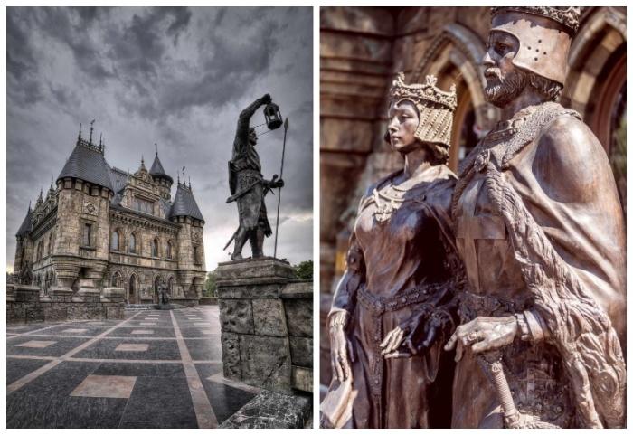 Оригинальные статуи украшают территорию «Замка Гарибальди» (с. Хрящевка, Самарская область). | Фото: wikipoints.ru.