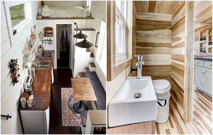 Чтобы обустроить мебелью и техникой/оборудованием Tiny house, придется постараться. | Фото: futuristarchitecture.com/ pinterest.com.
