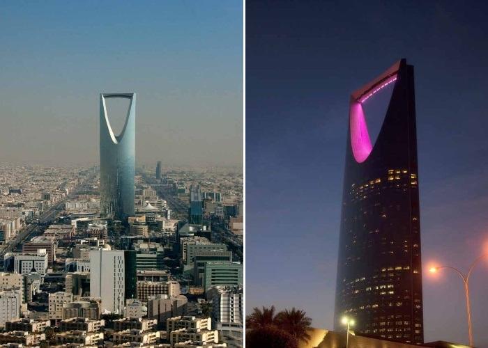 Как ни смотри, но 311 метровой высоты небоскреб Бурдж Аль-Мамляка больше похож на «открывашку» (Эр-Рияд, Саудовская Аравия). | Фото: etotam.com.