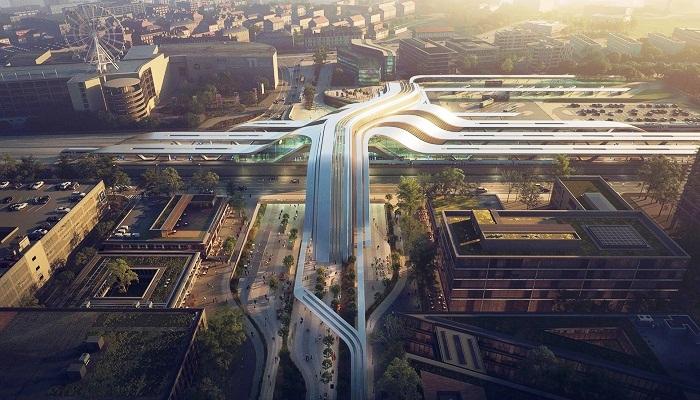 Проект Zaha Hadid Architects выиграл конкурс на строительство терминала Юлемисте в Таллине (Эстония). | Фото: zaha-hadid.com.