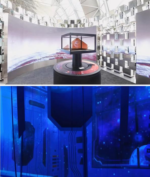 Ультраскоростной лифт доставит гостей к интерактивной экспозиции, которая раскроет планы Китая на освоение Марса («Crystal»). | Фото: youtube.com/ © CapitaLand.
