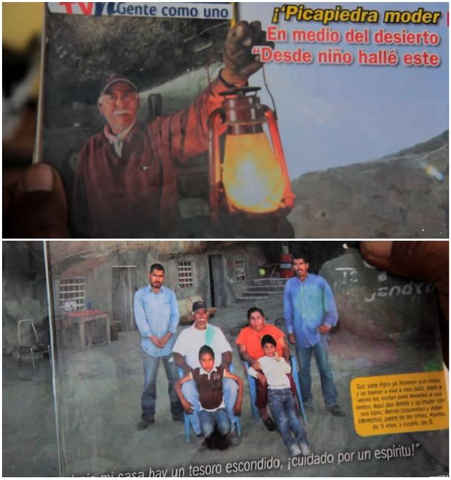 В 2013 г. семейство Эрнандес прославилось не только на всю страну (Бенито демонстрирует фото из журналов). © VANGUARDIA MX.